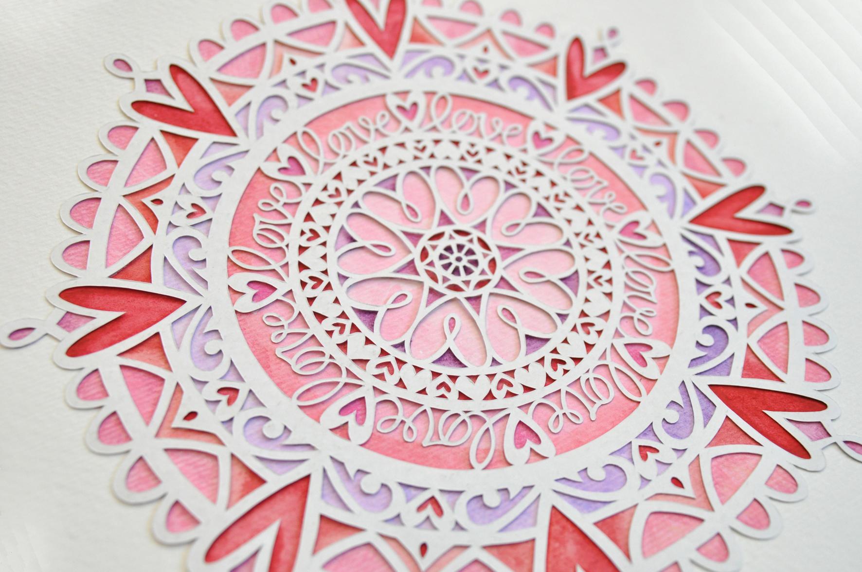 do it yourself love mandala digital papercutting template