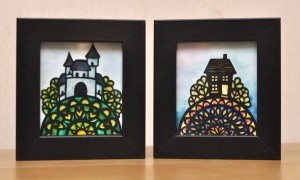 Miniatures duo castle and house