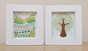 Miniatures duo tree and meadow