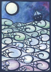 Moonlight Sailing A4