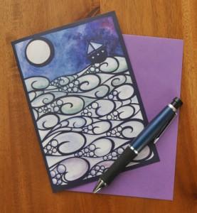Moonlight Sailing card