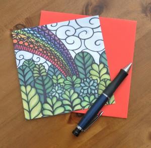 Rainbow forest card