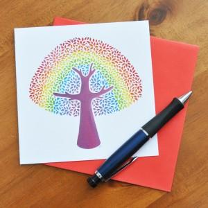 Rainbowtreecard